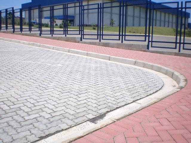 piso intertravado de concreto para calçadas